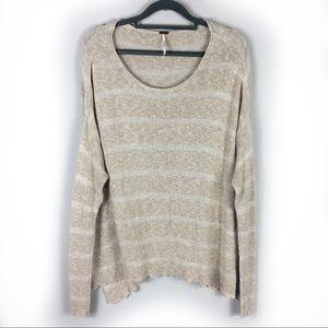 Free People Tan Thin Knit Sweater